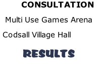 CONSULTATION   Multi Use Games Arena  Codsall Village Hall          RESULTS